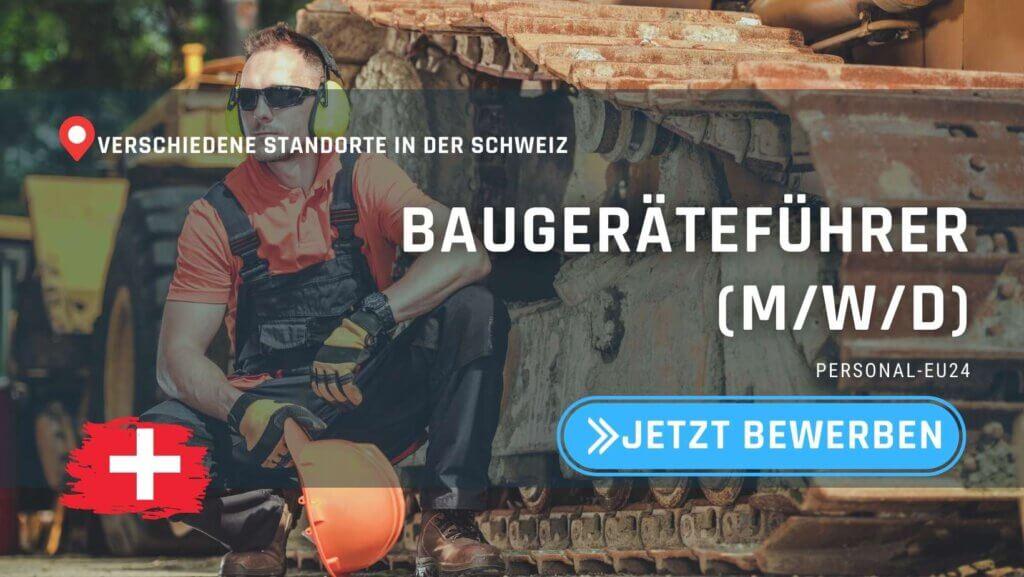 CH_K0015_006 - Baugeräteführer - Jobs in der Schweiz - Personalvermittlung_