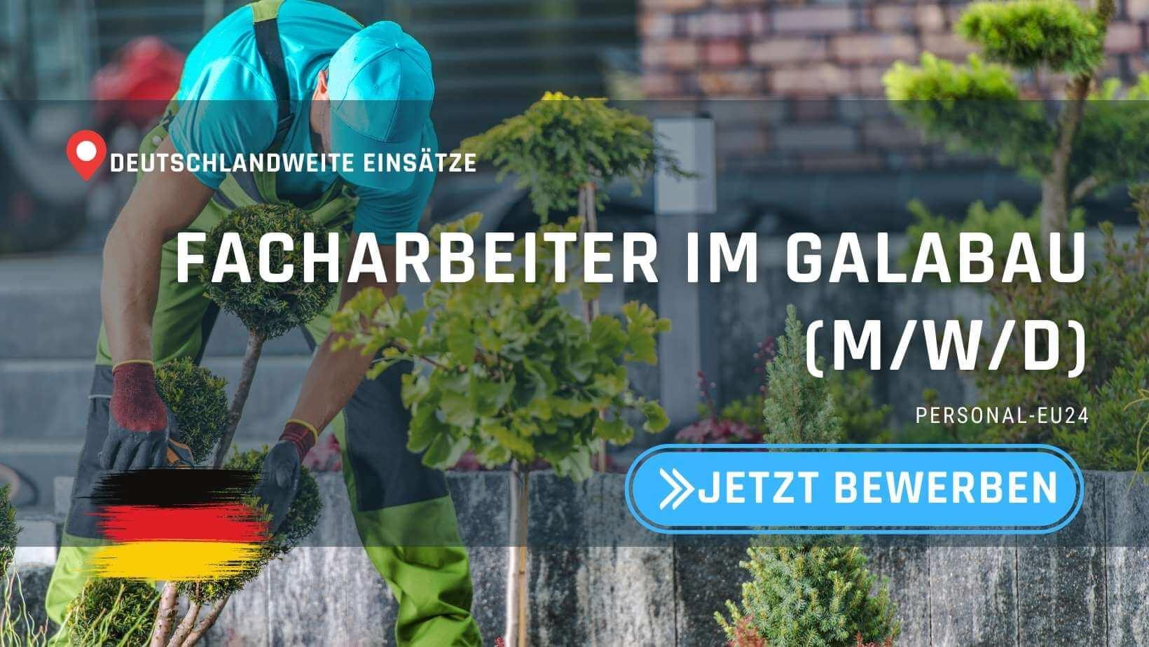 DE_K0004_118 Facharbeiter im GaLaBau - Jobs in Deutschland - Deutschlandweite Einsätze_