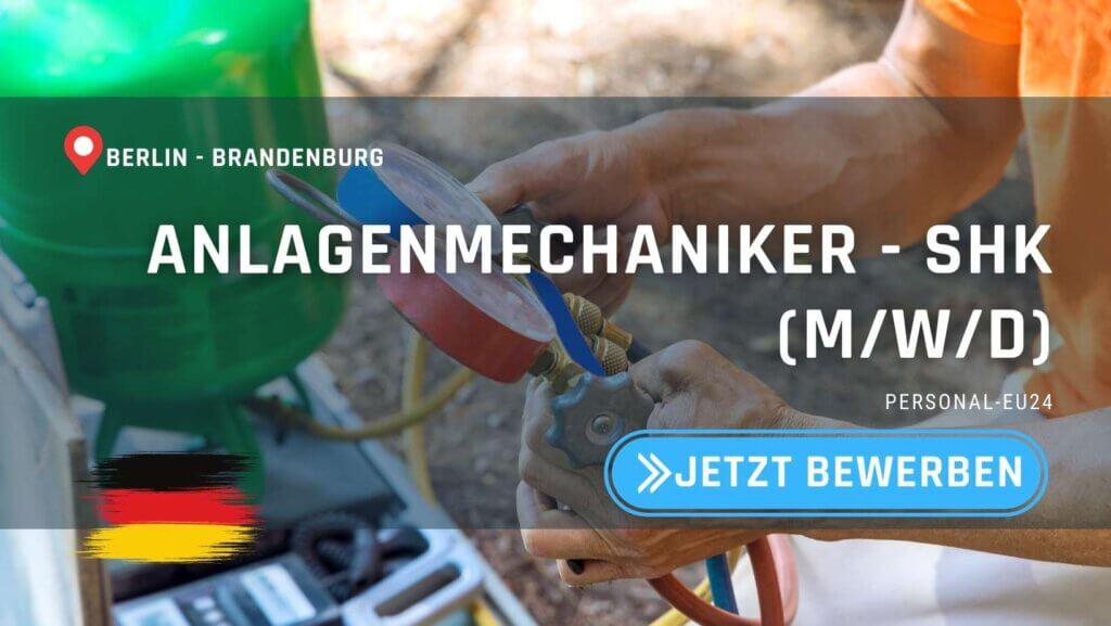 DE_K0010_002 - ANLAGENMECHANIKER FÜR SANITÄR-, HEIZUNGS- UND KLIMATECHNIK (mwd) Jobs in Berlin, Brandenburg_