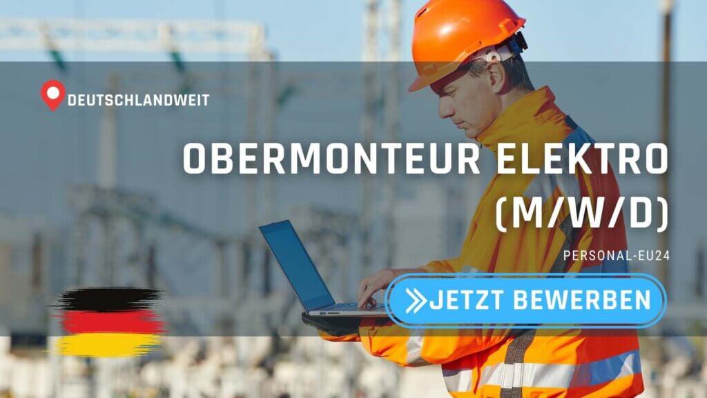 DE_K0054_121 - Obermonteur Elektro (mwd) Jobs in Deutschland_