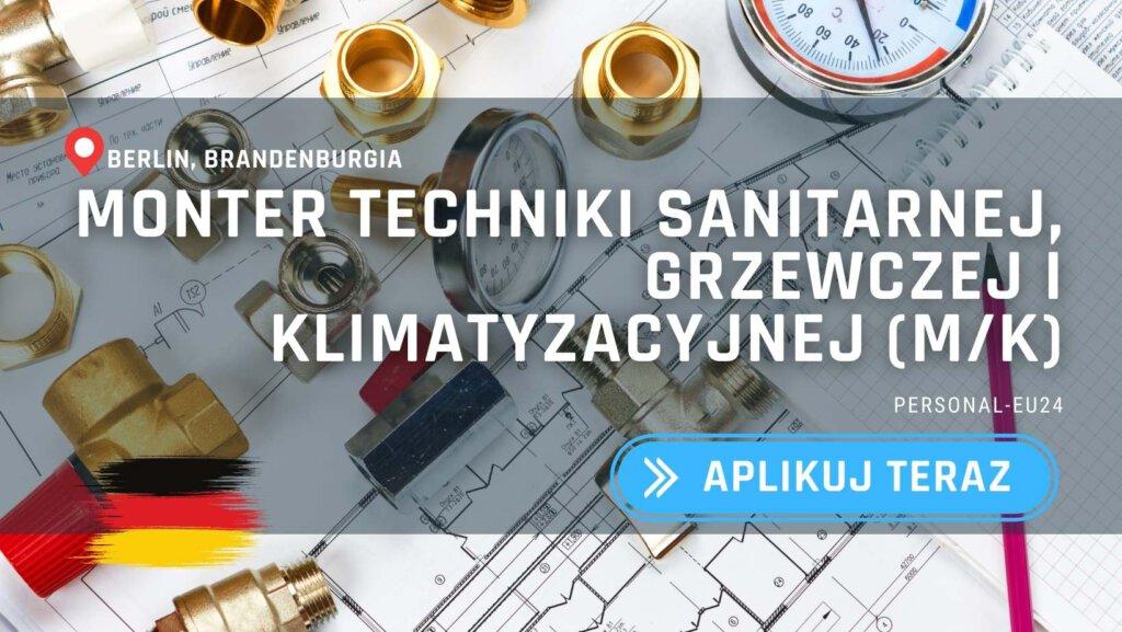 PL_K0010_002 Monter techniki sanitarnej, grzewczej i klimatyzacyjnej (mk) - Praca w Niemczech