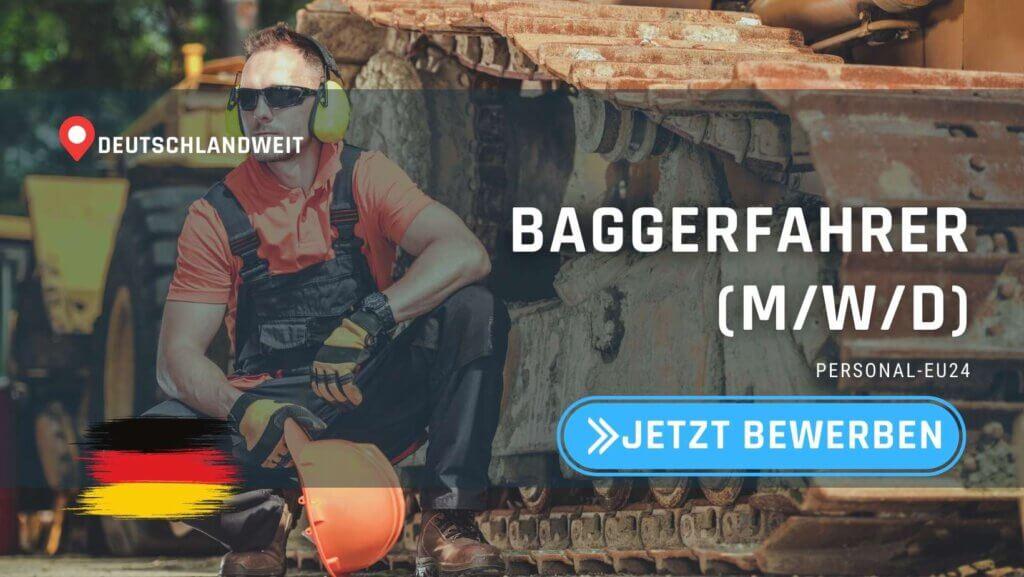 DE_K0003_049 - Baggerführer (mwd) Jobs in Deutschland
