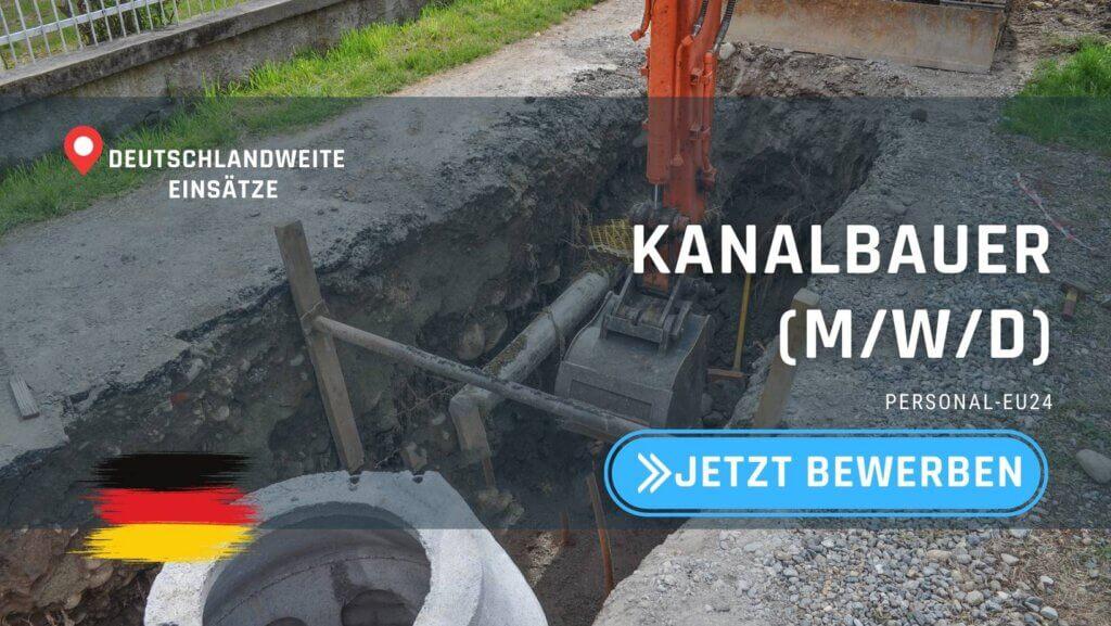 DE_K0003_056 Kanalbauer (mwd) Jobs in Deutschland