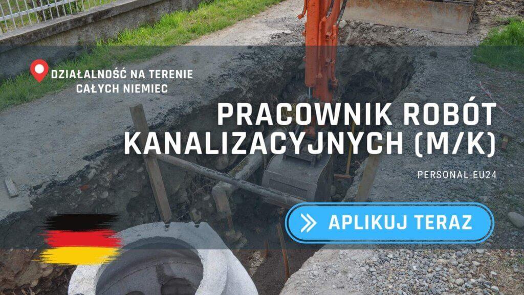 DE_K0003_056 Pracownik robót kanalizacyjnych (mk) Praca w Niemczech