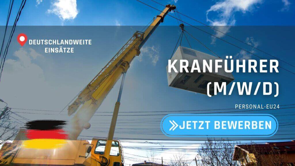 DE_K0003_061 Kranführer (mwd) Jobs in Deutschland
