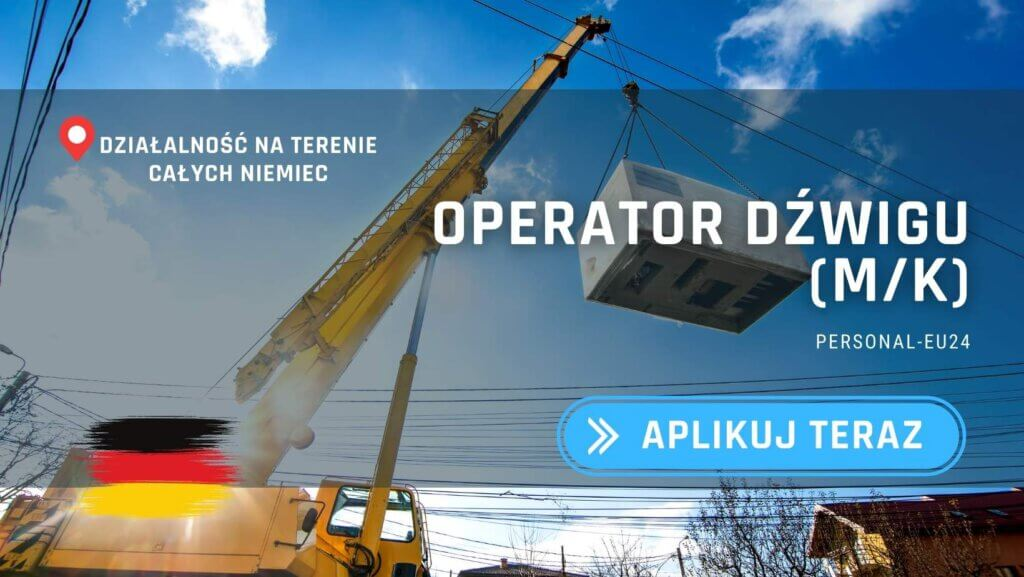 DE_K0003_061 Operator Żurawia  dźwigu (mk) Praca w Niemczech