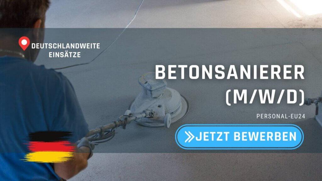 DE_K0003_063 Betonsanierer (mwd) Jobs in Deutschland