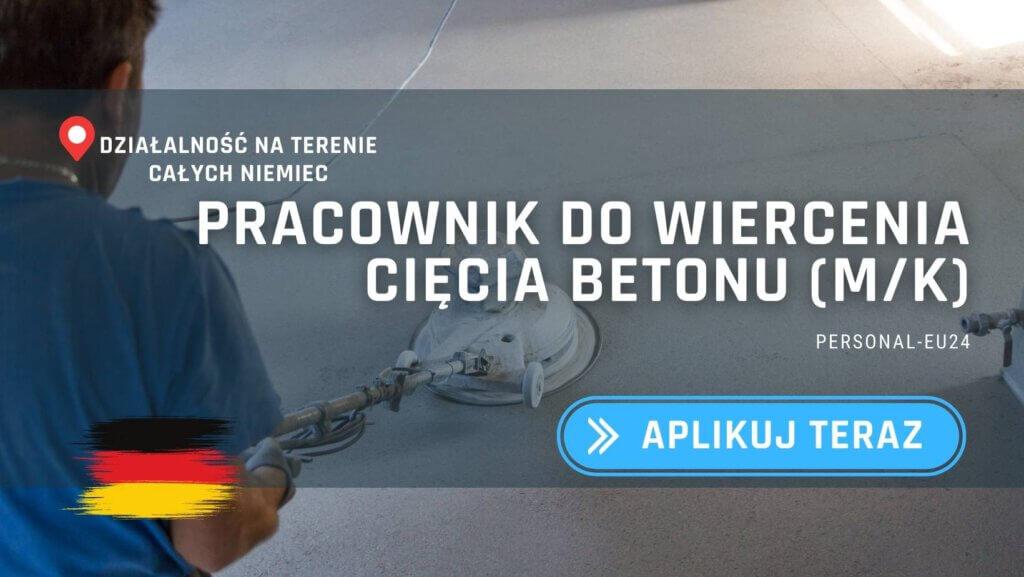 DE_K0003_063 pracownik do wiercenia ciecia betonu (mk) Praca w Niemczech