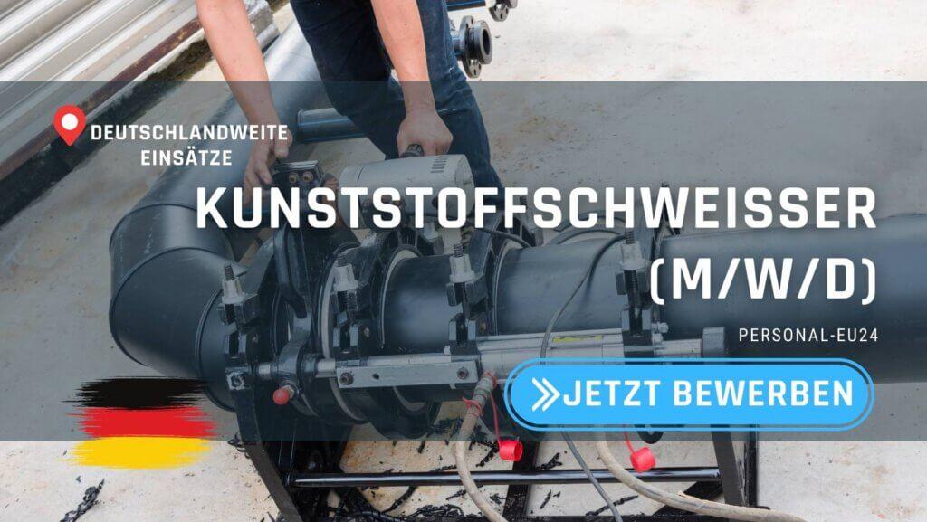 DE_K0003_064 Kunststoffschweißer (mwd) Jobs in Deutschland