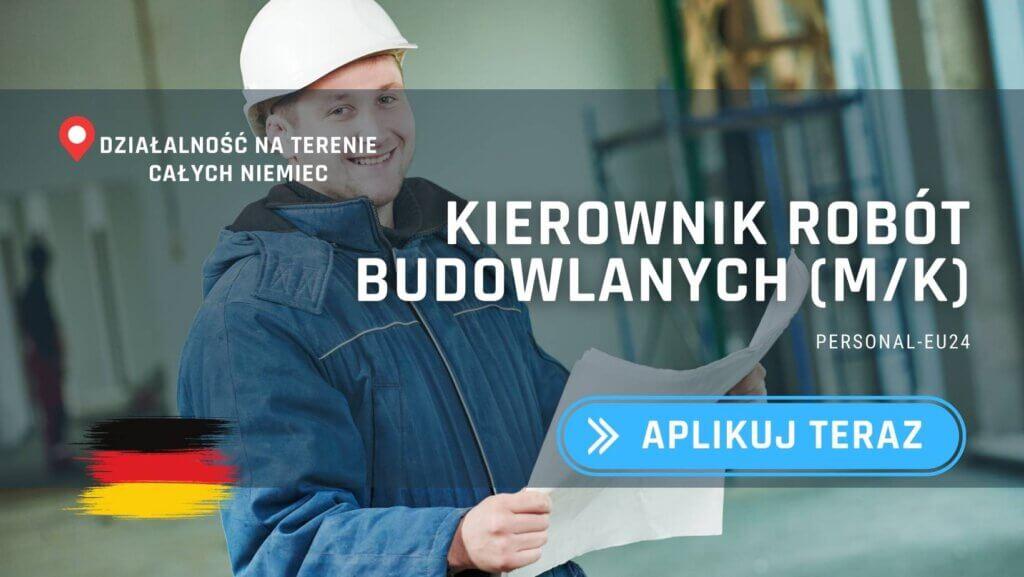 DE_K0003_126 Kierownik robót budowlanych (mk) Praca w Niemczech