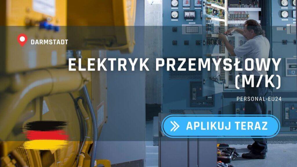 DE_K0047_125 - Elektryk przemysłowy (mk) - Praca w Niemczech