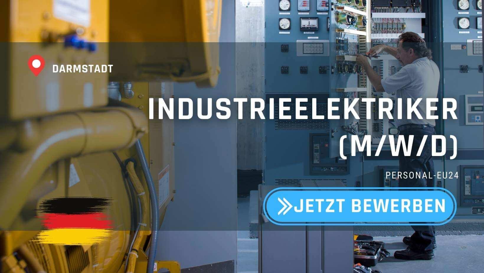 DE_K0047_125 - Industrieelektriker (mwd) Jobs in Darmstadt