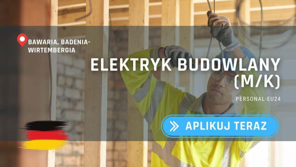 DE_K0047_129 Elektryk budowlany (mk) Praca w Bawarii
