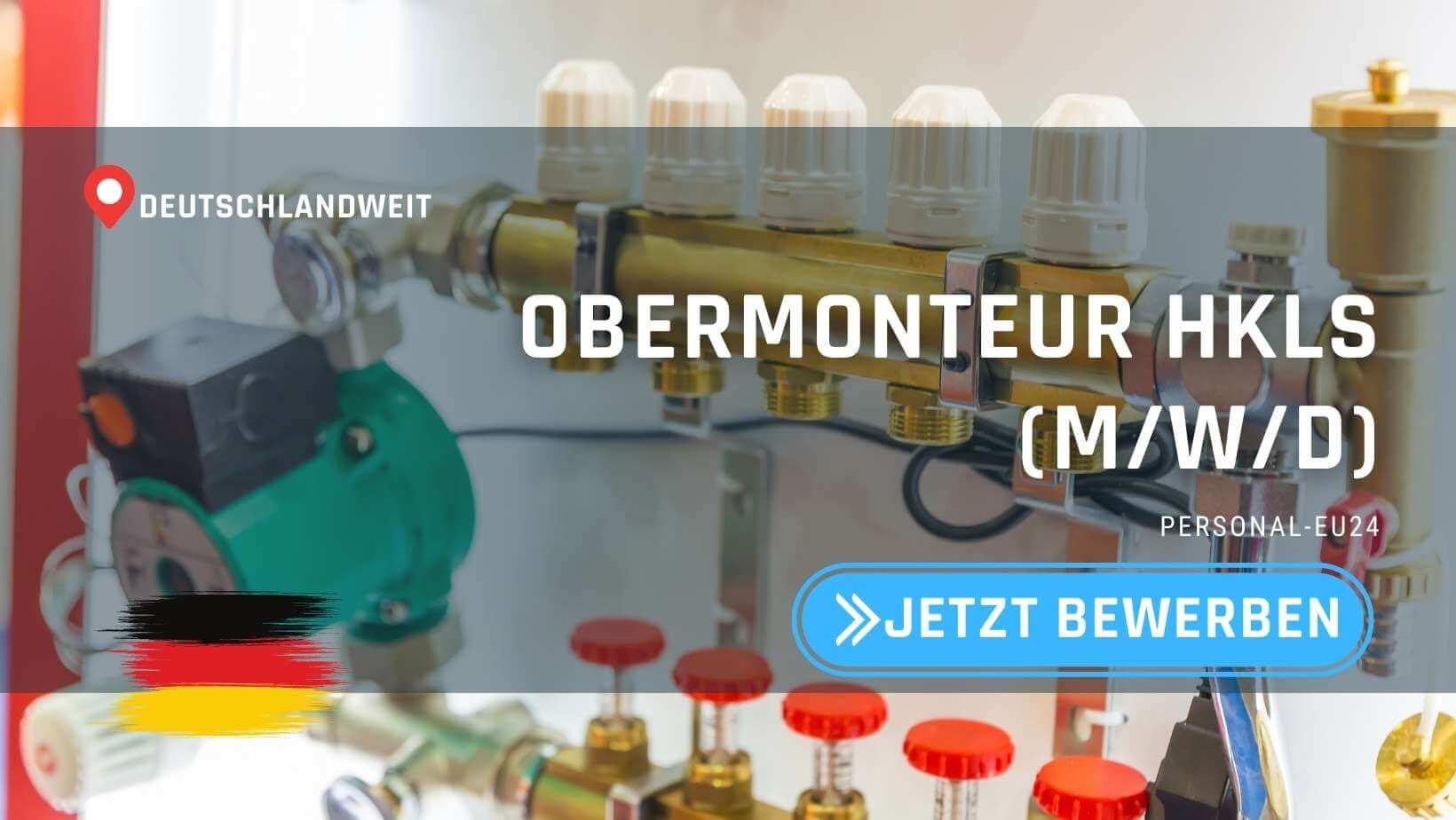 DE_K0054_122 - Obermonteur HKLS (mwd) Jobs in Deutschland