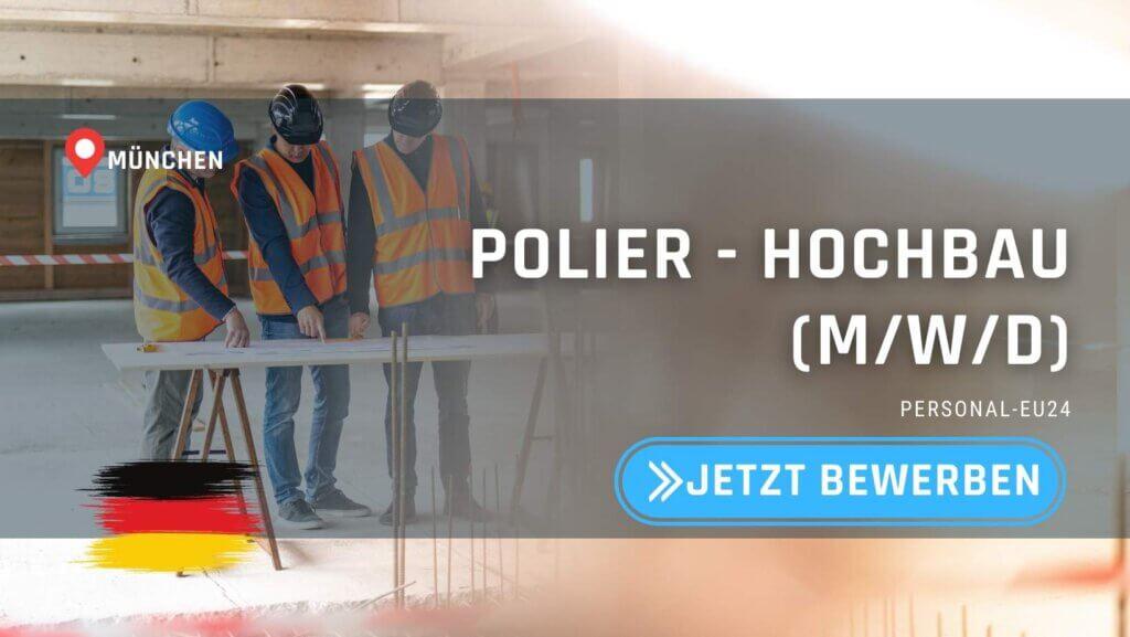 DE_K0055_127 Polier - Hochbau (mwd) Jobs in München