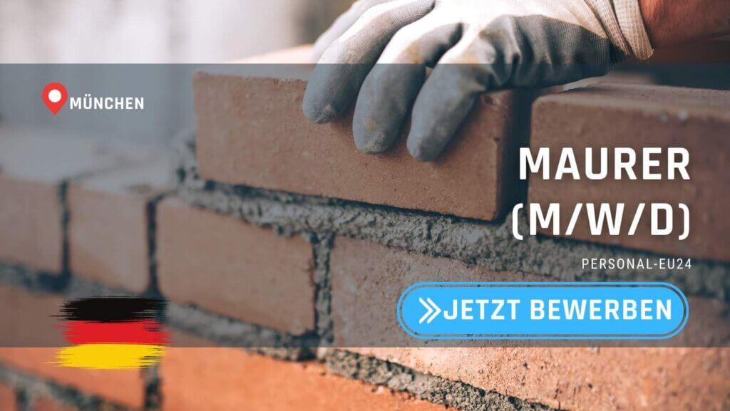 DE_K0055_128 Maurer (mwd) Jobs in München