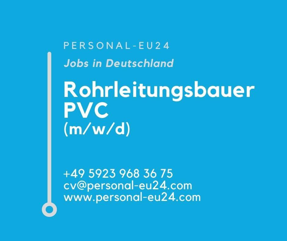 DE_K0038_134 Rohrleitungsbauer PVC (mwd) Jobs in Deutschland