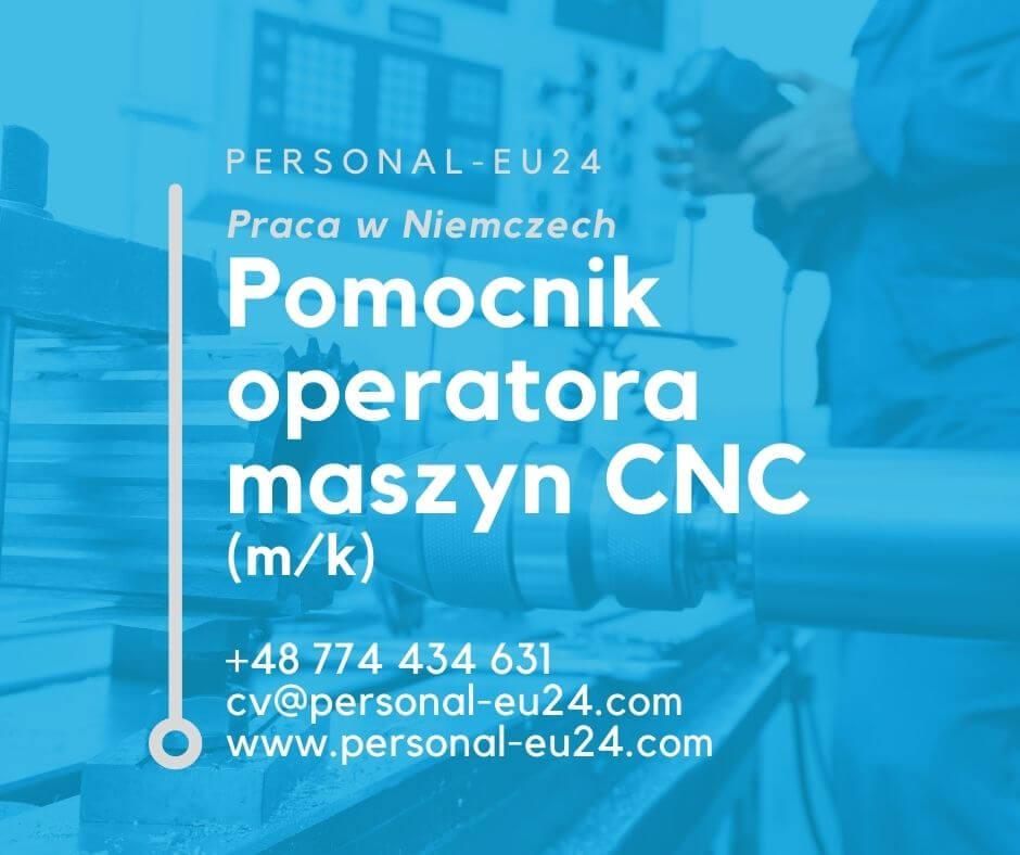 DE_K0057_140 Pomocnik operatora maszyn CNC (mk) Praca w Bobingen