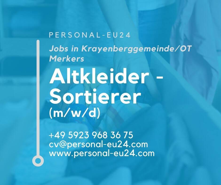 DE_K0060_138 Altkleider - Sortierer (mwd) Jobs in KrayenberggemeindeOT Merkers
